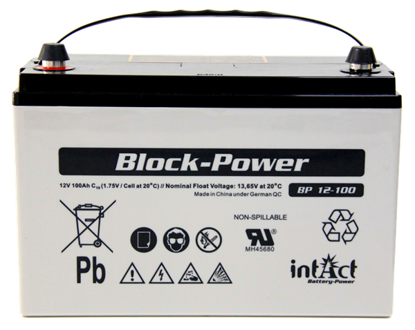 Bild von AGM Batterie Intact Block-Power 100Ah/12V